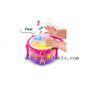 Learn & Groove™ Color Bilingual Play Drum - Online Exclusive Pink Ages 6-36 months - Sale