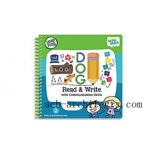 LeapStart® Read & Write with Communication Skills 30+ Page Activity Book Ages 3-5 yrs. - Sale
