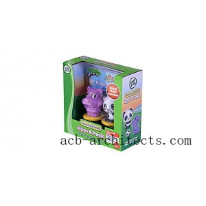 Learning Friends™ Hippo & Panda Figure Set with Board Book Ages 2-5 yrs. - Sale