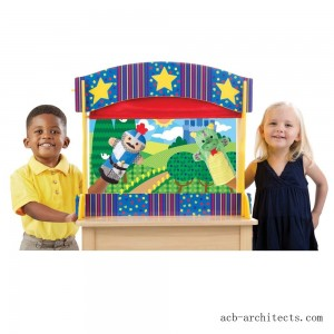 Melissa & Doug Tabletop Puppet Theater - Sturdy Wooden Construction - Sale