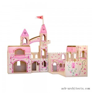 Melissa & Doug Folding Princess Castle Wooden Dollhouse With Drawbridge and Turrets - Sale