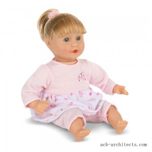 Melissa & Doug Mine to Love Natalie 12-Inch Soft Body Baby Doll With Hair and Outfit - Sale