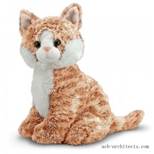 Melissa & Doug Pumpkin Tabby - Stuffed Animal Cat - Sale