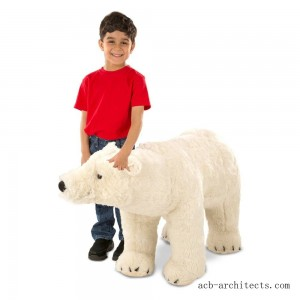 Melissa & Doug Giant Polar Bear - Lifelike Stuffed Animal (nearly 3 feet long) - Sale