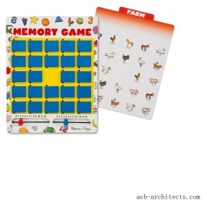 Melissa & Doug Flip to Win Travel Memory Game - Wooden Game Board, 7 Double-Sided Cards, Kids Unisex - Sale