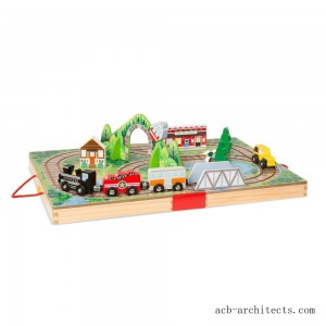 Melissa & Doug Take-Along Railroad 17pc - Sale