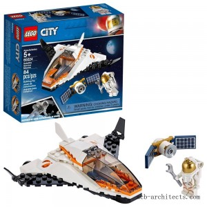 LEGO City Space Satellite Service Mission 60224 Space Shuttle Toy Building Set 84pc - Sale