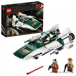 LEGO Star Wars: The Rise of Skywalker Resistance A-Wing Starfighter 75248 Advanced Collectible Starship Model Building Kit 269pc - Sale