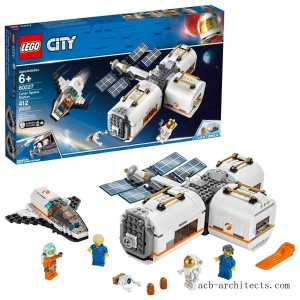 LEGO City Space Lunar Space Station 60227 Space Station Building Set with Toy Shuttle - Sale