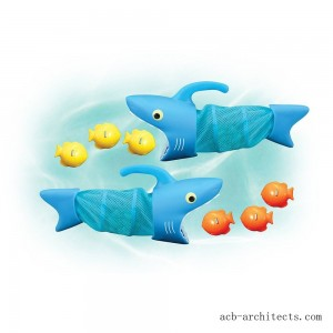 Melissa & Doug Sunny Patch Spark Shark Fish Hunt Pool Game With 2 Nets and 6 Fish to Catch - Sale