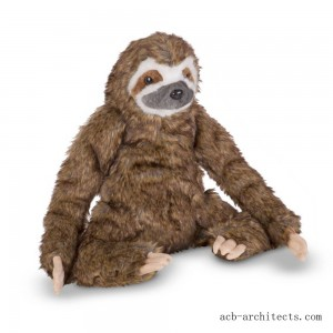 Melissa & Doug Stuffed Animal Sloth - Sale