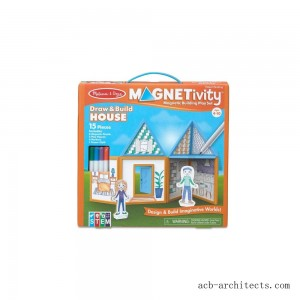 Melissa & Doug Magnetivity - Draw & Build House - Sale