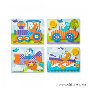 Melissa & Doug First Play 6pc Jigsaw Puzzle Set Vehicles - Sale