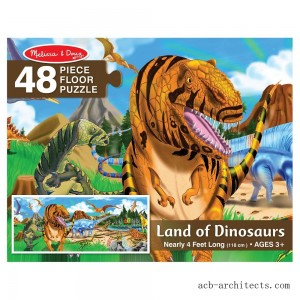 Melissa And Doug Land Of Dinosaurs Floor Puzzle 48pc - Sale