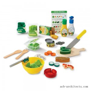 Melissa & Doug Slice and Toss Salad Play Food Set - 52pc Wooden and Felt - Sale