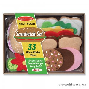 Melissa & Doug Felt Food Sandwich Play Food Set (33pc) - Sale