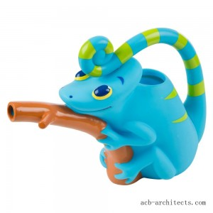 Melissa & Doug Sunny Patch Camo Chameleon Watering Can With Tail Handle and Branch-Shaped Spout - Sale