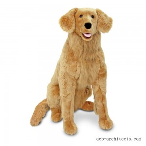 Melissa & Doug Giant Golden Retriever - Lifelike Stuffed Animal Dog (over 2 feet tall) - Sale