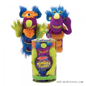 Melissa & Doug Make-Your-Own Fuzzy Monster Puppet Kit With Carrying Case (30pc) - Sale