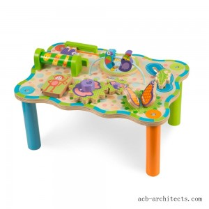 Melissa & Doug First Play Childrens Jungle Wooden Activity Table for Toddlers - Sale