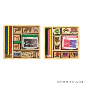 Melissa & Doug Wooden Stamp Sets (2): Friendship and Horses - Sale