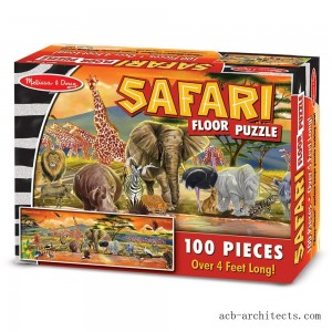 Melissa And Doug African Plains Safari Jumbo Floor Puzzle 100pc - Sale