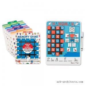 Melissa & Doug Flip to Win Set - Memory Game and Hangman - Sale