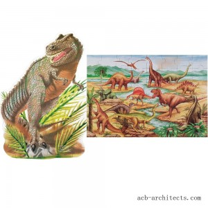 Melissa & Doug Dinosaur and T-Rex 2pk Floor Puzzle - Sale