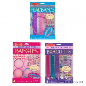 Melissa & Doug Design-Your-Own Jewelry-Making Kits - Bangles, Headbands, and Bracelets - Sale