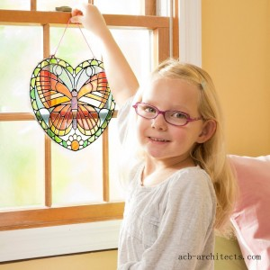 Melissa & Doug Stained Glass Made Easy Activity Kit: Butterfly - 140+ Stickers - Sale