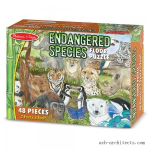 Melissa And Doug Endangered Species Jumbo Floor Puzzle 48pc - Sale