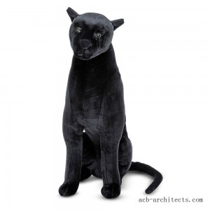 Melissa & Doug Giant Panther - Lifelike Stuffed Animal (nearly 3 feet tall) - Sale