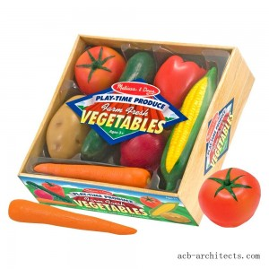Melissa & Doug Playtime Produce Vegetables Play Food Set With Crate (7pc) - Sale