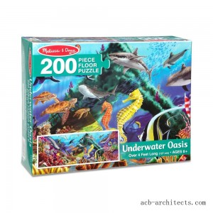 Melissa And Doug Underwater Oasis Jumbo Floor Puzzle 200pc - Sale