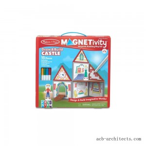 Melissa & Doug Magnetivity - Draw & Build Castle - Sale