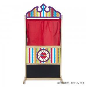 Melissa & Doug Deluxe Puppet Theater - Sturdy Wooden Construction - Sale