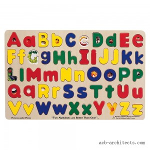 Melissa & Doug Upper & Lower Case Alphabet Letters Wooden Puzzle (52pc) - Sale