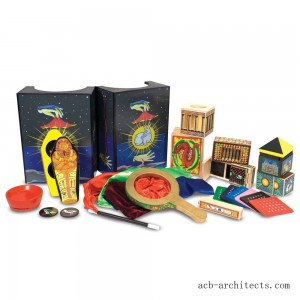 Melissa & Doug Deluxe Solid-Wood Magic Set With 10 Classic Tricks - Sale