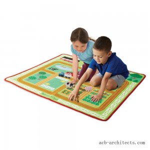 Melissa & Doug Round the Barnyard Farm Rug, Kids Unisex - Sale