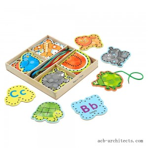 Melissa & Doug Alphabet Wooden Lacing Cards With Double-Sided Panels and Matching Laces - Sale