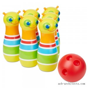 Melissa & Doug Rainbow Caterpillar Bowling Set - Sale